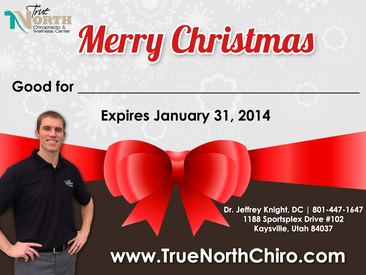 gift certificates are here true north chiropractic wellness get your christmas gift certificates today